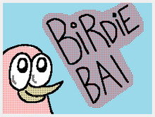 Birdie BAI Flipnote Hatena Title Card Studio Nintendo Icon Logo TeenChat The Author Side Mr O Mr. O'Strich Tee Kiwi T-Kiwi Character Cute Funny Songbird Pink BirdieBAI Weebly Mixxt Tumblr YouTube Google Plus