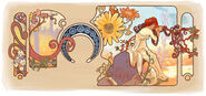 Google Alfons Mucha's 150th Birthday