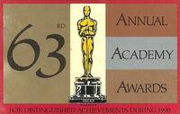 Oscars print 63rd