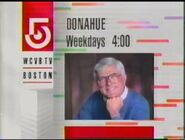 WCVB-TV 5 Donahue promo March 1992