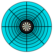 Bullseye Traditional Matchplay Dart Board Series 7 Blue