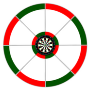 Bullseye Traditional Matchplay Dart Board Series 1