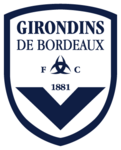 FC Girondins de Bordeaux logo (reversed colours)