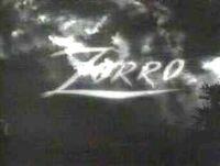 Zorro 1957 show logo