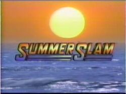 WWE WWF SummerSlam-1991 logo with sun