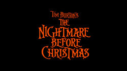 Nightmare Before Christmas Movie Logo