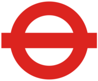 London Transport roundel 1980s