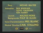 Rabbit Seasoning (1952) Credits screen