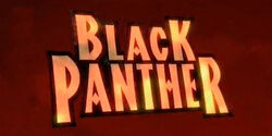 Black Panther animated series logo