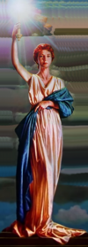 Columbia Torch Lady painting (1993-2007)