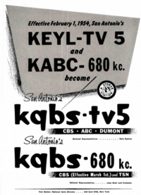 KEYL to KGBS 1954