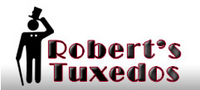 Robert's Tuxedos new logo