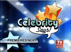 Celebrity Says! Promo