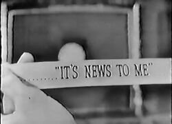 It's News to Me 1951 Debut
