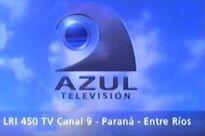 AzulTelevision-Canal-9-De Parana 2000 Placa