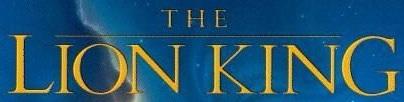 The Lion King 1994 logo