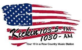 Kickin' 103.5 amd 1030 new logo