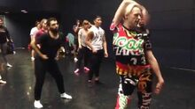 Laganja teaching choreography in -LaganjasDanceSchool