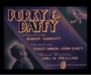 Porky and Daffy (Computer Colorized)