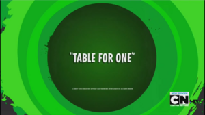 Table For One
