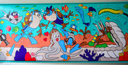 LOONEY TUNES Wallpaper Border Ocean Beach Kids Bathroom Vintage 2 Rolls B