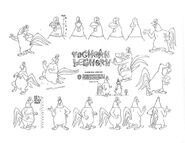 Foghorn leghorn model sheet ver 3 by guibor-d70ww0n