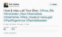 K.C. Collins (Season 5 End of LG) tweet