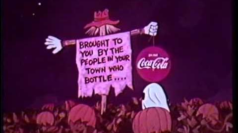 It's the Great Pumpkin Charlie Brown 1966 Coke sponsor open-1