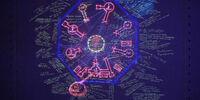 Geografía en el mapa de la puerta blindada