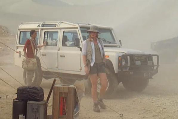 File:Charlotte and the Land Rover Defender 110.JPG