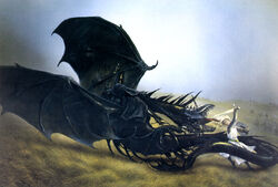 John Howe - Eowyn and the Nazgul