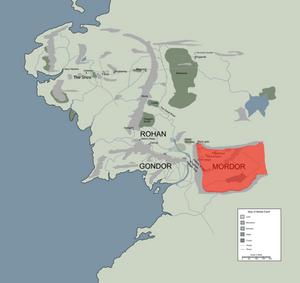 MORDOR location map in middle earth.PNG