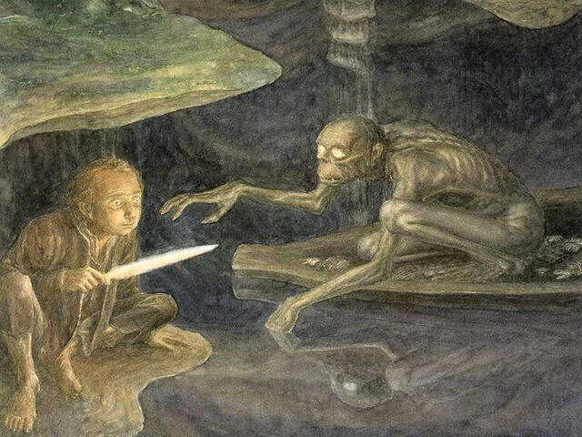 File:The Hobbit Riddles in the dark by Alan Lee.jpg