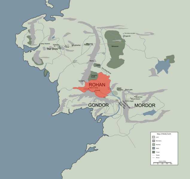 Maps The One Wiki to Rule Them All – Lord of the Rings Map of Middle Earth