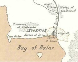 Location of the Havens of Sirion
