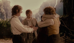 The Hobbits in Rivendell