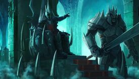 The Witch-King sits on his throne in Angmar