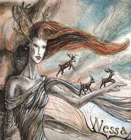 File:Nessa is playing with deers by Estelinakina.jpg