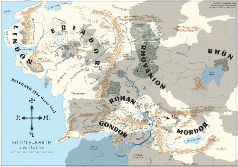 Europe The One Wiki to Rule Them All – Lord of the Rings Map Middle Earth