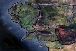 Location of Mount Doom