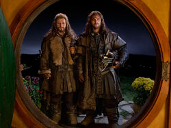 Fili and Kili at Bag End