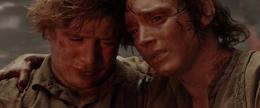 Frodo and Sam at Mt Doom