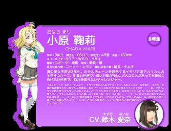 Sunshine!! character intro - Ohara Mari