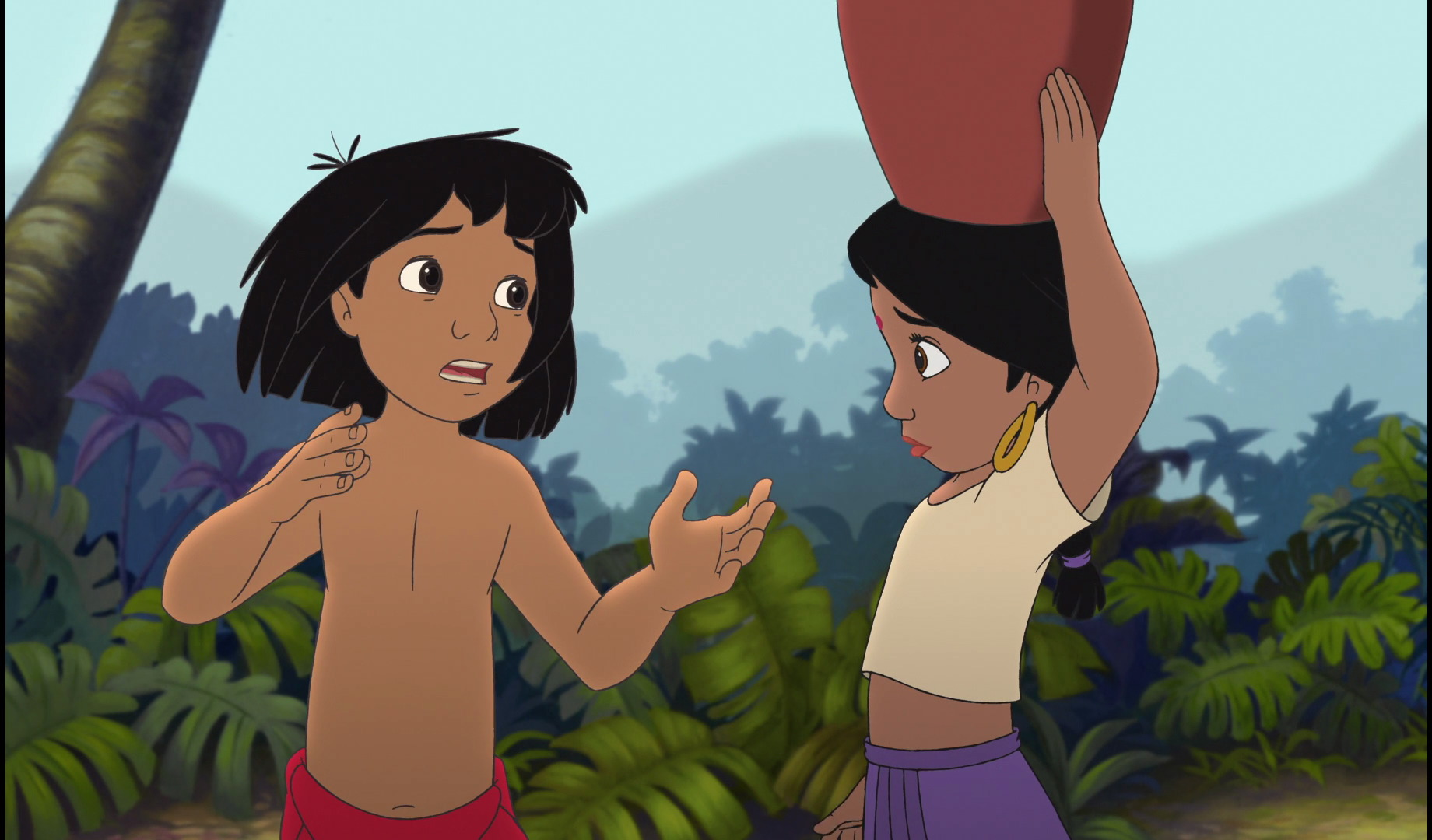 Image - Mowgli and Shanti are both worried and scared.jpg ...