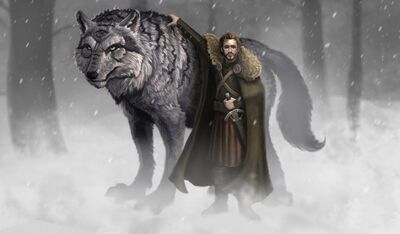 Grey Wind and Robb