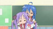 Konata and Kagami Episode23