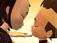 """""""Prawie-pocałunek"""" Yumi i Ulricha"""