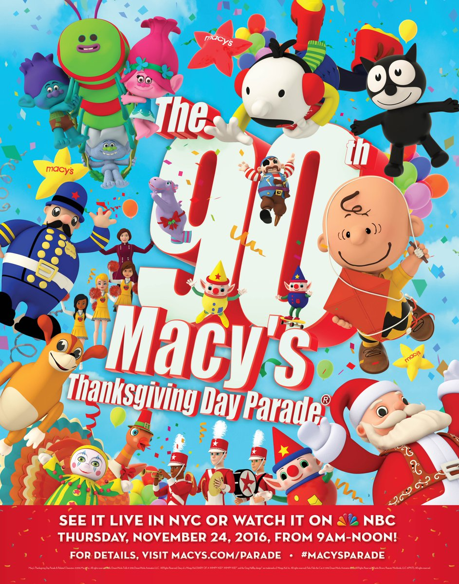 Macy S 10th Birthday Party At Dylan S Candy Bar: The 90th Annual Macy's Thanksgiving Day Parade 2016