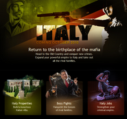 Italy coming soon page