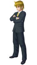 Aratanaru Sekai Alibaba in suit